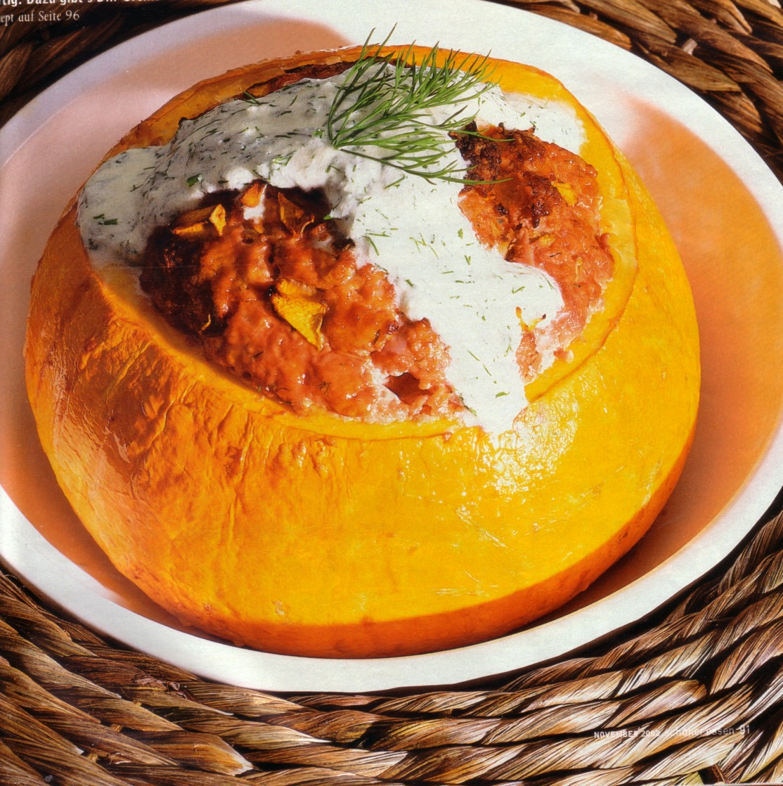 Filled pumpkin authentic german recipe german recipes for Authentic german cuisine