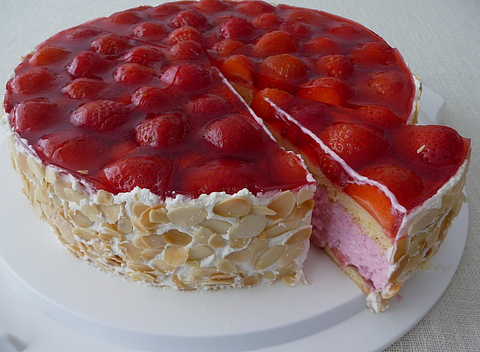 German Strawberry Cake Erdbeer Torte Recipe